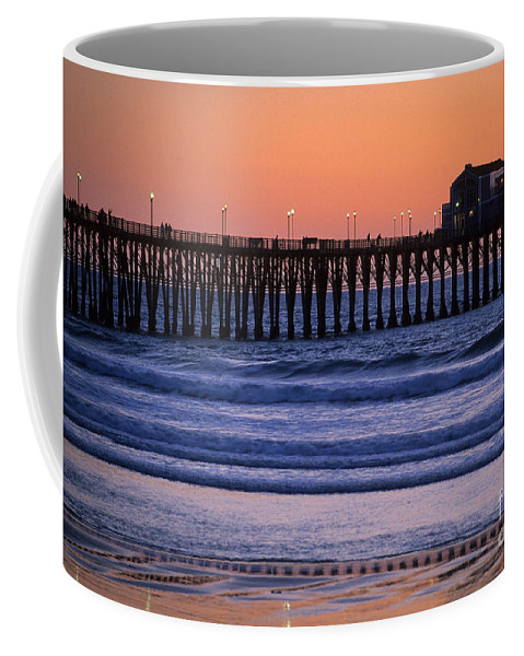 Bronstein Coffee Mug featuring the photograph Twilight At Imperial Pier by Sandra Bronstein