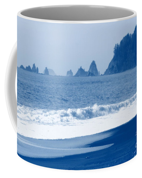 Beach Coffee Mug featuring the photograph Twilight Blue by Carol Groenen