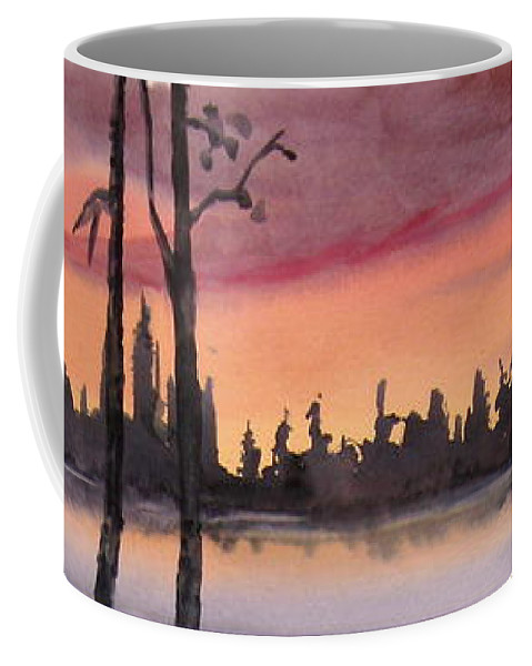 Sunset Coffee Mug featuring the painting Twilight by Mohamed Hirji