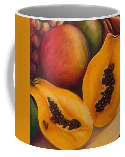 Twins Coffee Mug featuring the painting Twins Crop by Shannon Grissom