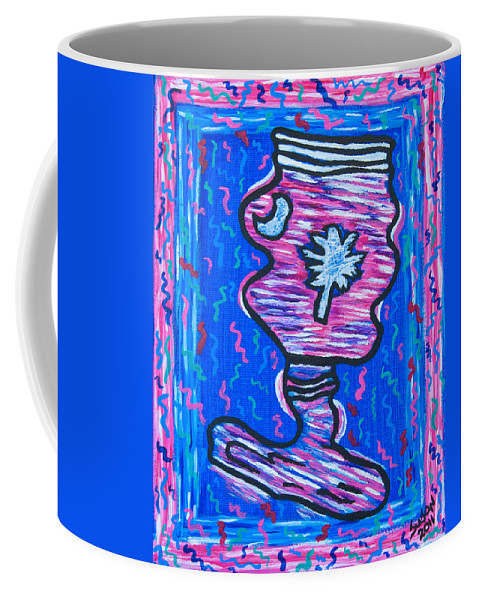 Twisted Coffee Mug featuring the painting Twisted Carolina Redneck by Susan Cliett