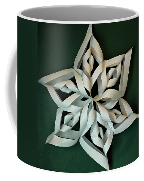 Usa Coffee Mug featuring the photograph Twisted Paper Christmas Star by LeeAnn McLaneGoetz McLaneGoetzStudioLLCcom