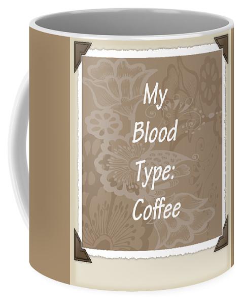 Coffee Coffee Mug featuring the digital art Type Scrapbook by Angelina Vick