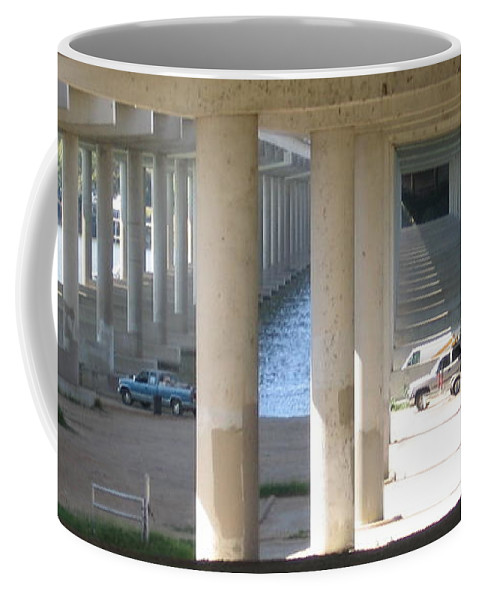 Coffee Mug featuring the photograph Under The Bridge by Amy Hosp