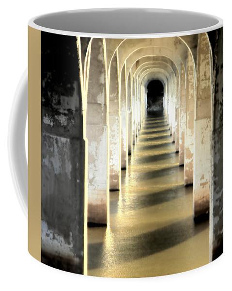 Bridge Coffee Mug featuring the photograph Under The Bridge by Heather Hollingsworth