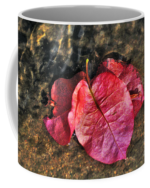 Photography Coffee Mug featuring the photograph Underwater - Bougainvillea Petals by Kaye Menner