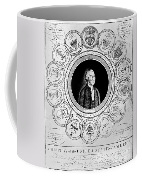 13-star Flag Coffee Mug featuring the photograph United States, 1787 by Granger