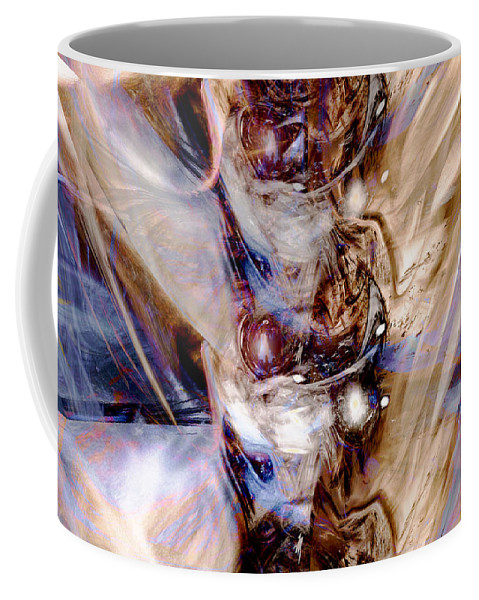 Digital Art Coffee Mug featuring the digital art Universal Wings by Linda Sannuti