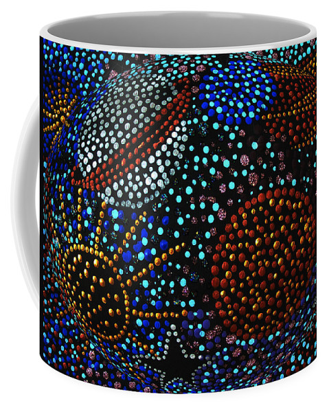 Acrylics Coffee Mug featuring the painting Universe by Vijay Sharon Govender
