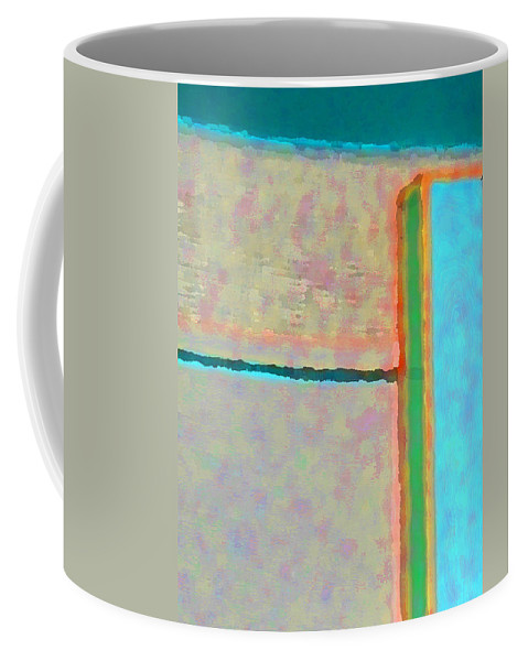 Abstract Coffee Mug featuring the digital art Up And Over by Richard Laeton