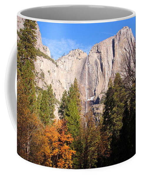 Air Coffee Mug featuring the photograph Upper Yosemite Falls In Autumn by Heidi Smith