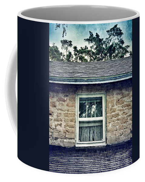 House Coffee Mug featuring the photograph Upstairs Window In Stone House by Jill Battaglia
