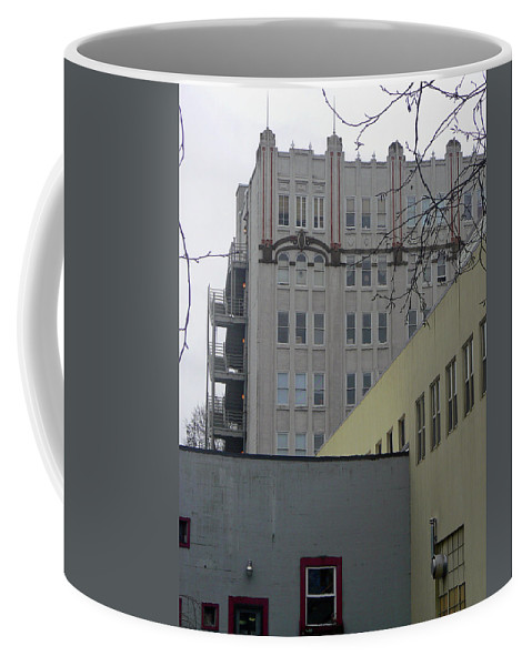 Abstract Coffee Mug featuring the photograph Urban Angles by Pamela Patch