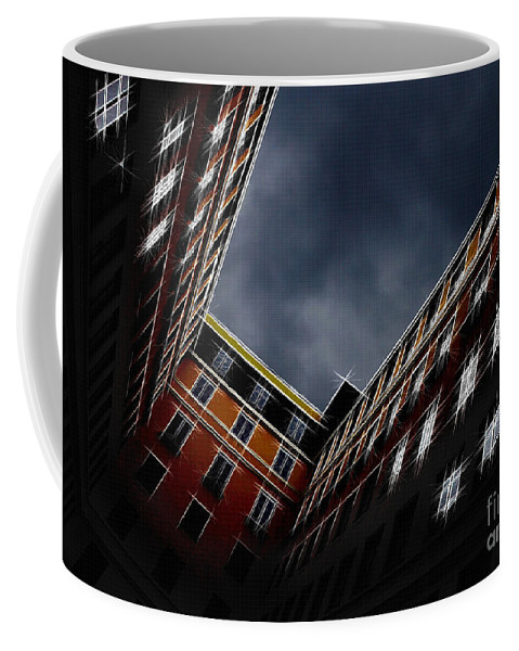 Architecture Coffee Mug featuring the photograph Urban Drawing by Hannes Cmarits