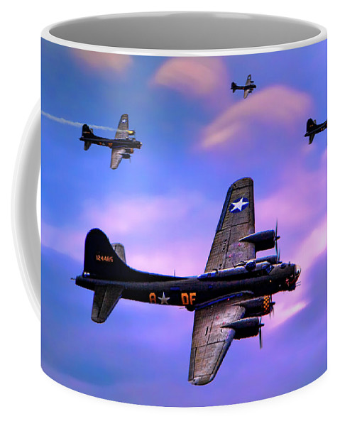 Plane Coffee Mug featuring the photograph Us Army Air Corps B17g Flying Fortress by Chris Lord