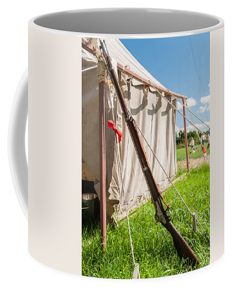 Civil War Coffee Mug featuring the photograph Usa Springfield 1861 by Guy Whiteley