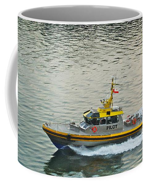 Pacific Coffee Mug featuring the photograph Vancouver Harbour Pilot by Michael Peychich