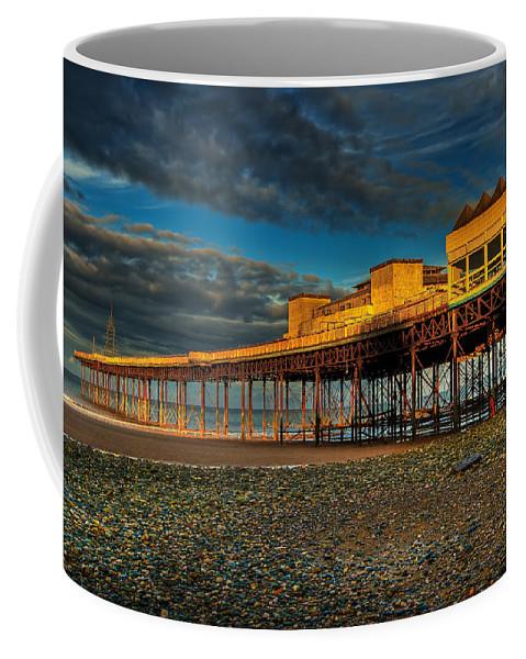 Beach Coffee Mug featuring the photograph Victorian Pier by Adrian Evans