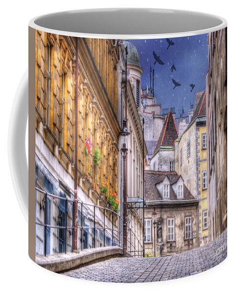 Vienna Coffee Mug featuring the photograph Vienna Cobblestone Alleys And Forgotten Streets by Juli Scalzi