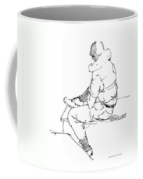 Vietnam War Art Coffee Mug featuring the drawing Vietnam War Art-4 by Gordon Punt