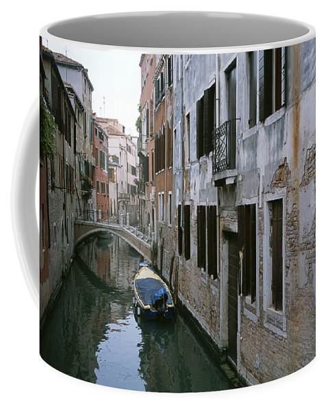 Canals Coffee Mug featuring the photograph View Of A Canal In A Quiet Residential by Taylor S. Kennedy