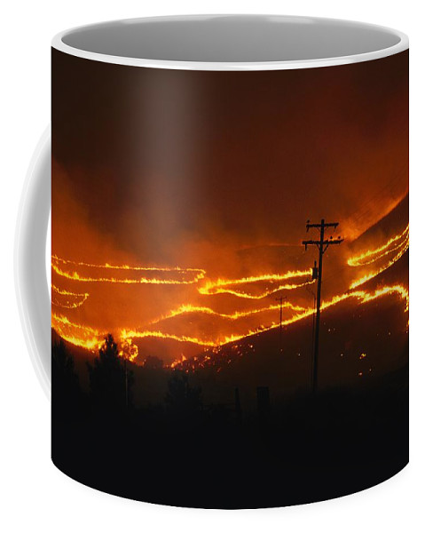Outdoors Coffee Mug featuring the photograph View Of A Forest Fire Near Boise, Idaho by Mark Thiessen