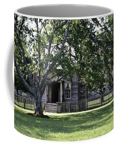 Appomattox Coffee Mug featuring the photograph View Of Jones Law Offices Appomattox Virginia by Teresa Mucha
