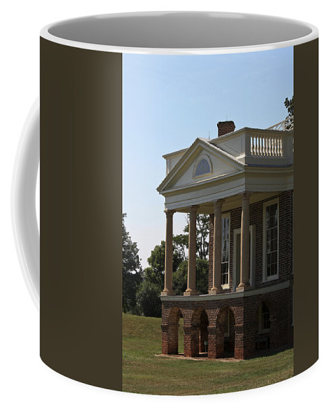 Poplar Forest Coffee Mug featuring the photograph View Of South Portico At Poplar Forest by Teresa Mucha