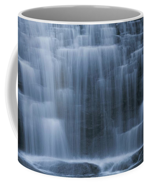 Water Coffee Mug featuring the photograph View Of Water Cascading by Medford Taylor