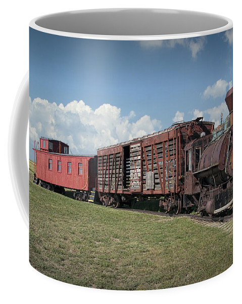 Art Coffee Mug featuring the photograph Vintage 1880 Locomotive Train No.1027 by Randall Nyhof