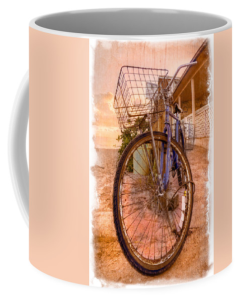 Delray Coffee Mug featuring the photograph Vintage Bicycle by Debra and Dave Vanderlaan