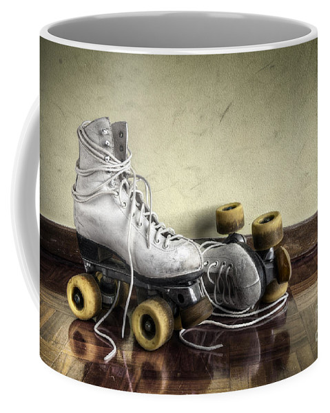 Active Coffee Mug featuring the photograph Vintage Roller Skates by Carlos Caetano