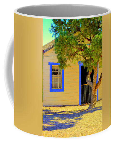 Old School House Coffee Mug featuring the photograph Violet Was In School by Diane montana Jansson