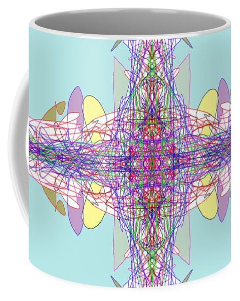 Fractal Coffee Mug featuring the digital art Vision by George Pedro