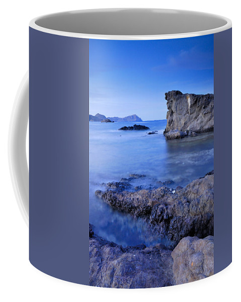 Seascape Coffee Mug featuring the photograph Volcanic Reef by Guido Montanes Castillo