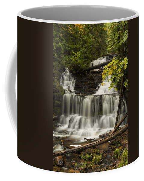 Wagner Coffee Mug featuring the photograph Wagner Falls 3 by John Brueske