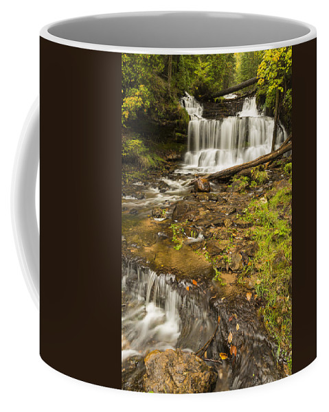 Wagner Coffee Mug featuring the photograph Wagner Falls 4 by John Brueske