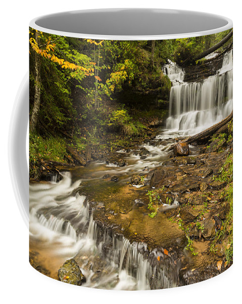 Wagner Coffee Mug featuring the photograph Wagner Falls 5 by John Brueske