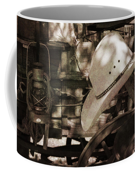 Cowboy Coffee Mug featuring the photograph Waiting For The Cowboy by Toni Hopper