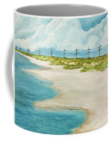 Holly Beach Coffee Mug featuring the painting Waiting For You by Monica Hebert