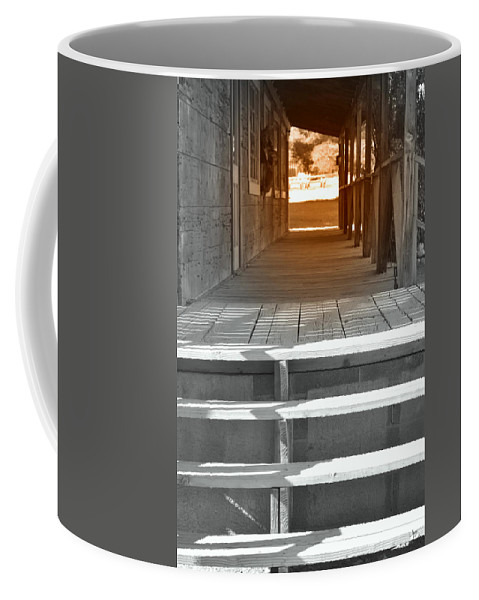 Old West Coffee Mug featuring the photograph Walk Into The Past by Diane montana Jansson