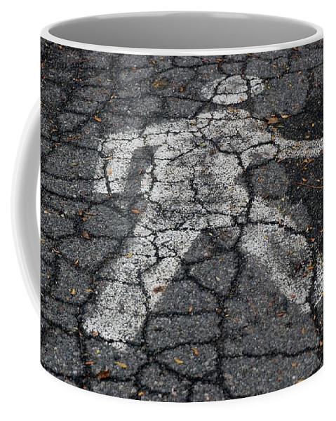 Walking Coffee Mug featuring the photograph Walking Man by Rob Hans