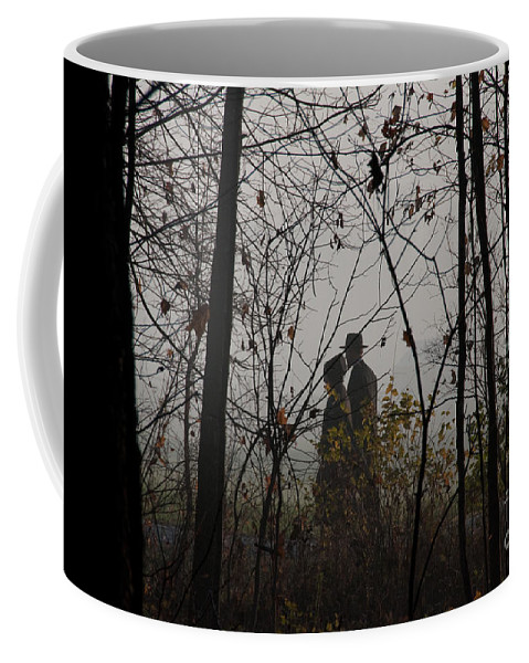 Amish Coffee Mug featuring the photograph Walking To Church by David Arment