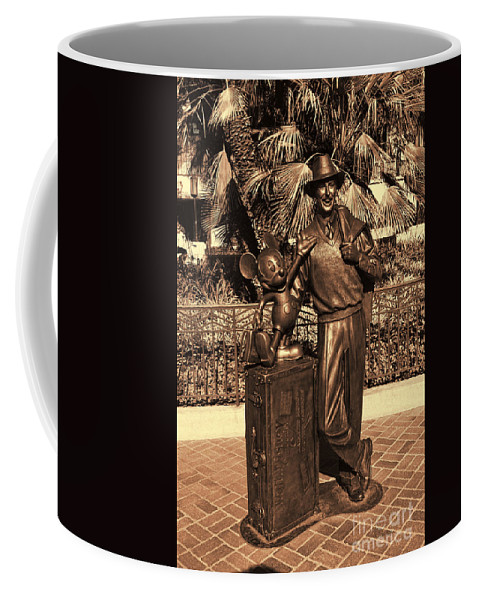 Anaheim Coffee Mug featuring the photograph Walt And Mickey California Adventure by Tommy Anderson