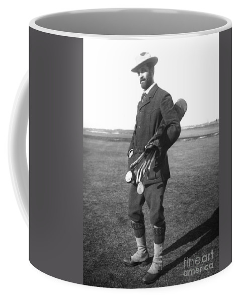 1910 Coffee Mug featuring the photograph Walter Travis (1862-1927) by Granger