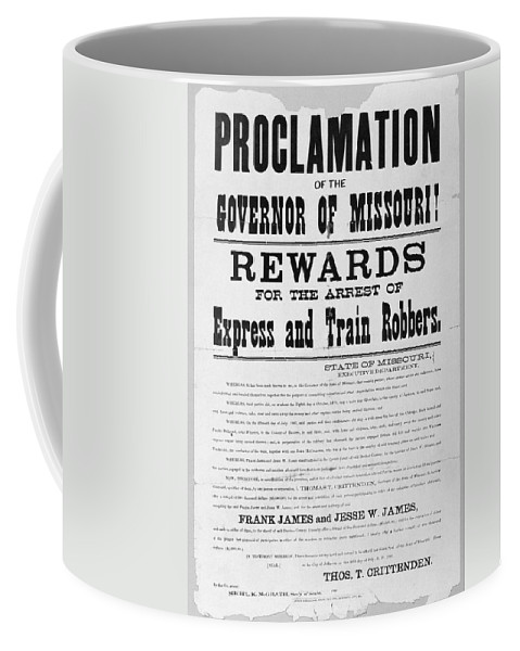 1881 Coffee Mug featuring the photograph Wanted Poster, 1881 by Granger
