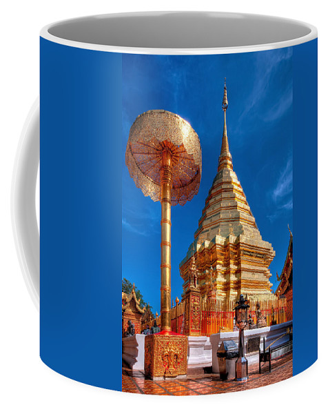 Buddhist Temple Coffee Mug featuring the photograph Wat Phrathat Doi Suthep by Adrian Evans