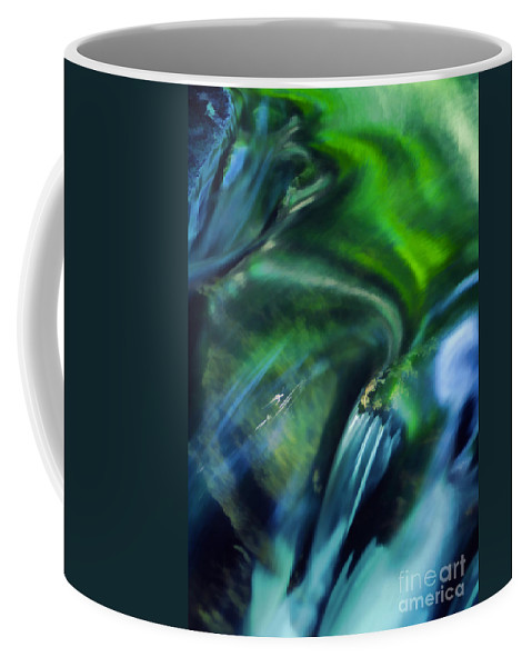 Abstract Coffee Mug featuring the photograph Water Abstract by Darren Fisher
