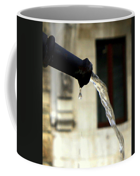 Water Coffee Mug featuring the photograph Water Fountain by Valentino Visentini