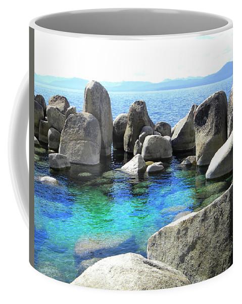 Water Stonehenge Lake Tahoe Coffee Mug featuring the photograph Water Stonehenge Lake Tahoe by Frank Wilson
